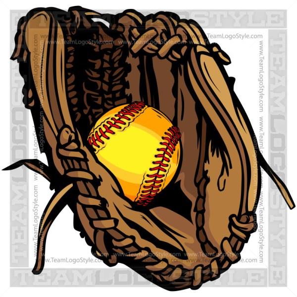 Softball Glove Clipart.