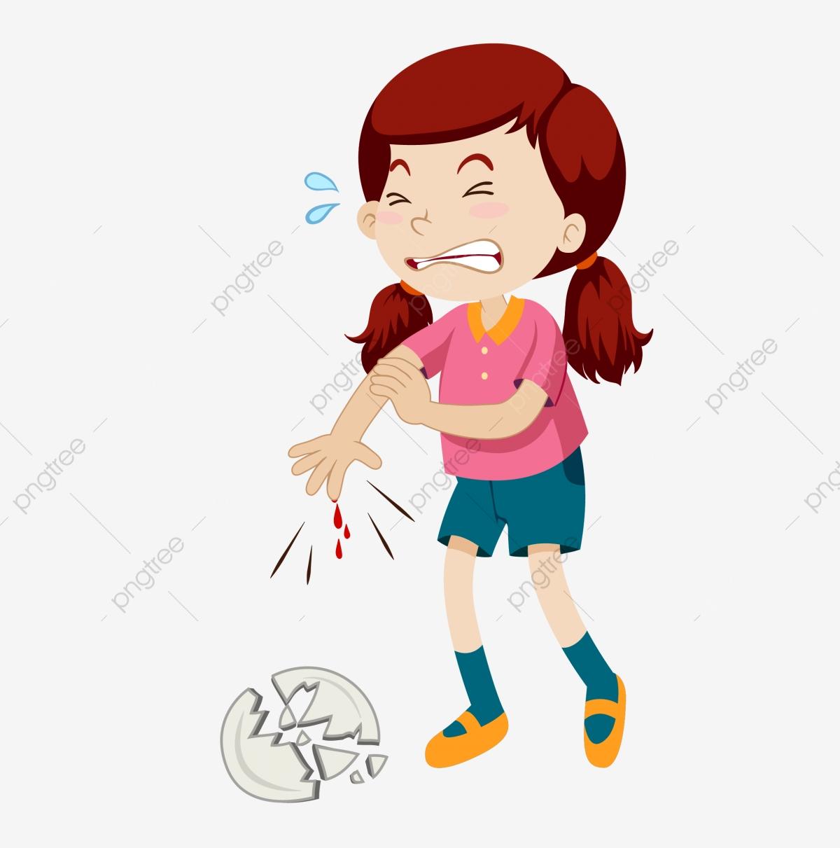 Arm Arm Injury Injured Injured And Crying, Cry, Crying Girl.