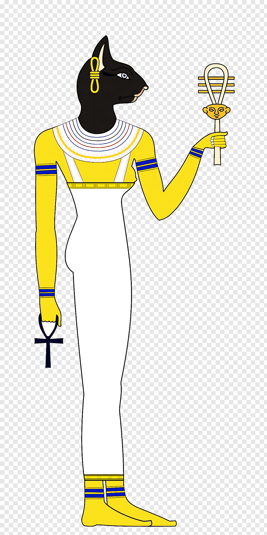 Yellow cartoon standing joint arm, Costume free png.