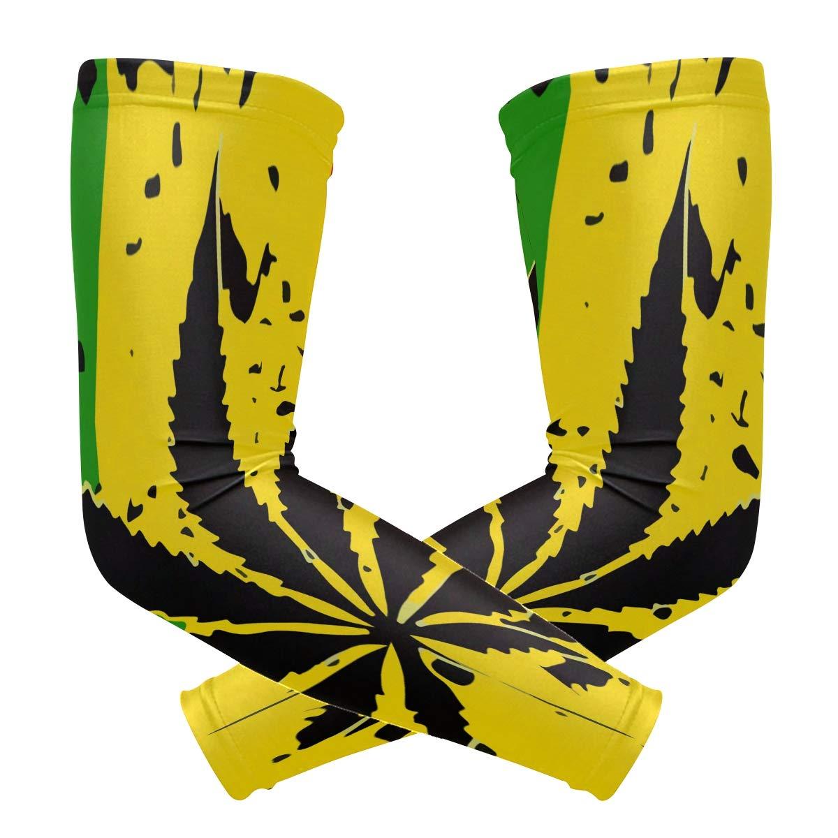 Amazon.com: Weed Cannabis Rasta Arm Sleeve Compression Elbow.