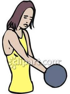 Woman Lifting Weights To Increase Arm Strength.