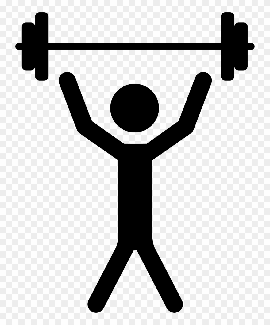 Man With Raised Arms Lifting Dumbbells Weight Comments.