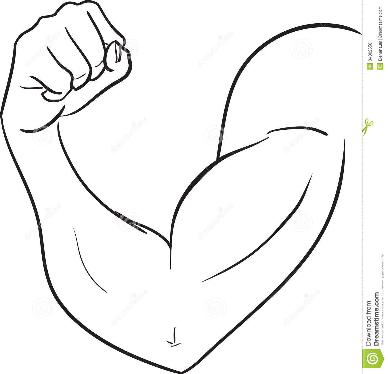 Arms clipart black and white, Arms black and white.