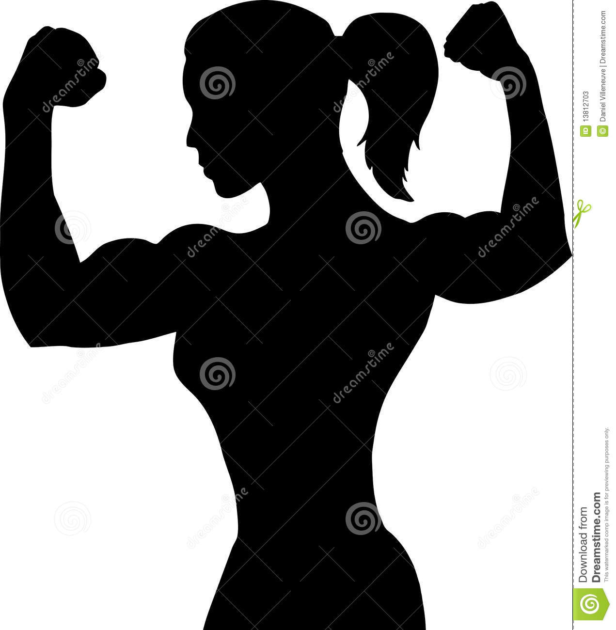 Woman showing muscle clip library download png files, Free.