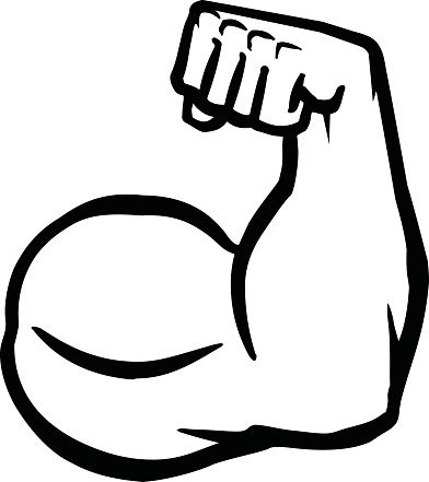 Clipart arm flexing.