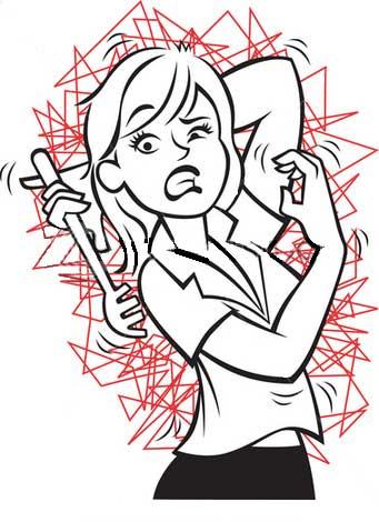 Itchy Skin Rash Cartoon Clipart.
