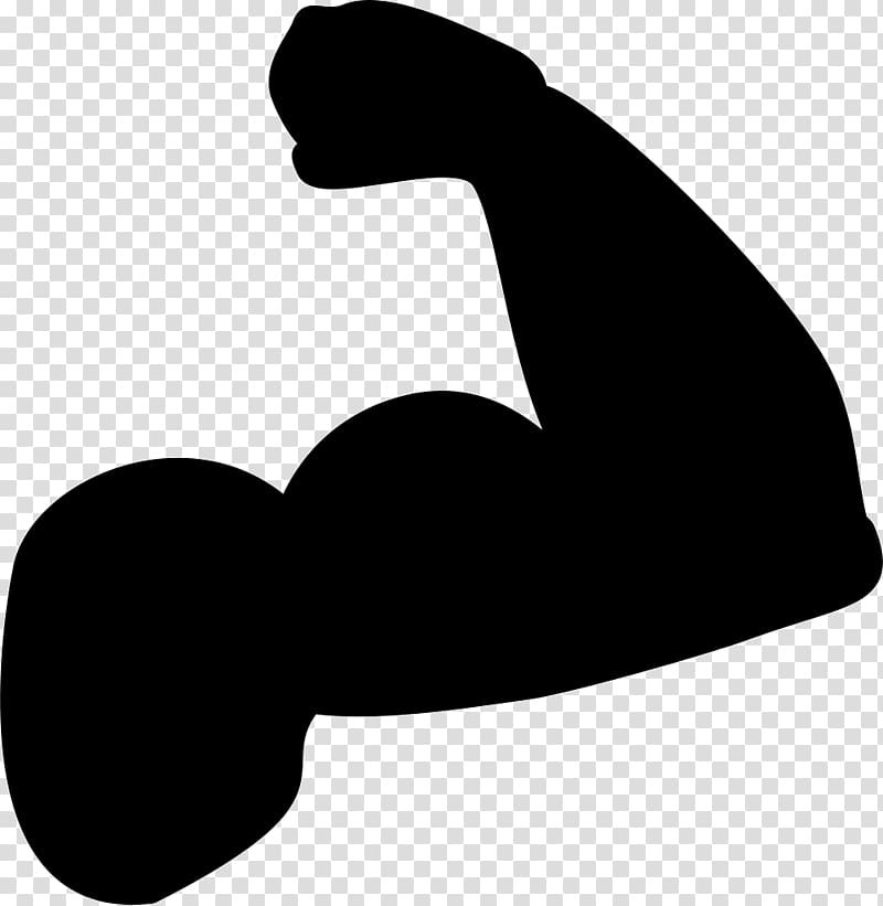 Biceps Muscle Arm Silhouette, arm transparent background PNG.