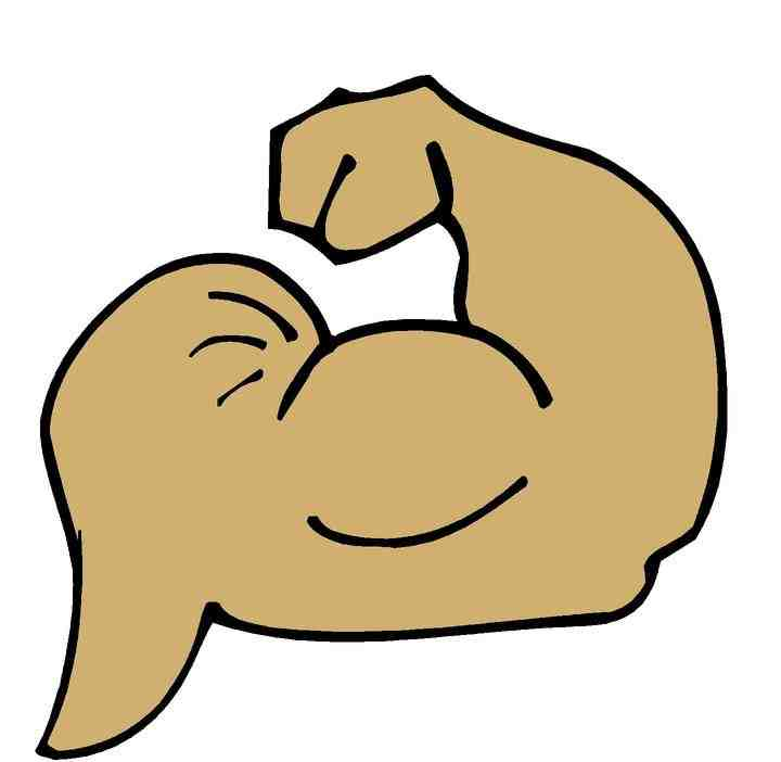 Arm strength clipart.