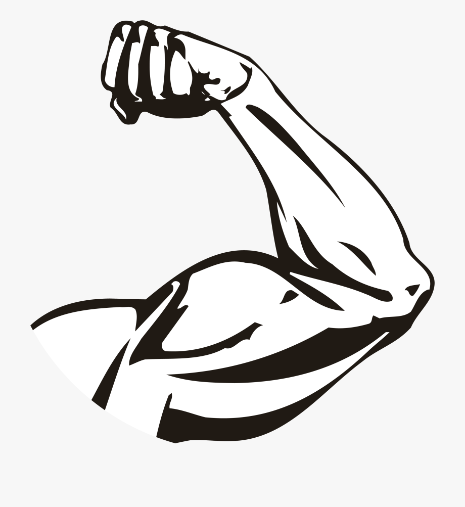 Strong Arm Black And White Free Clipart Clipart Finders.