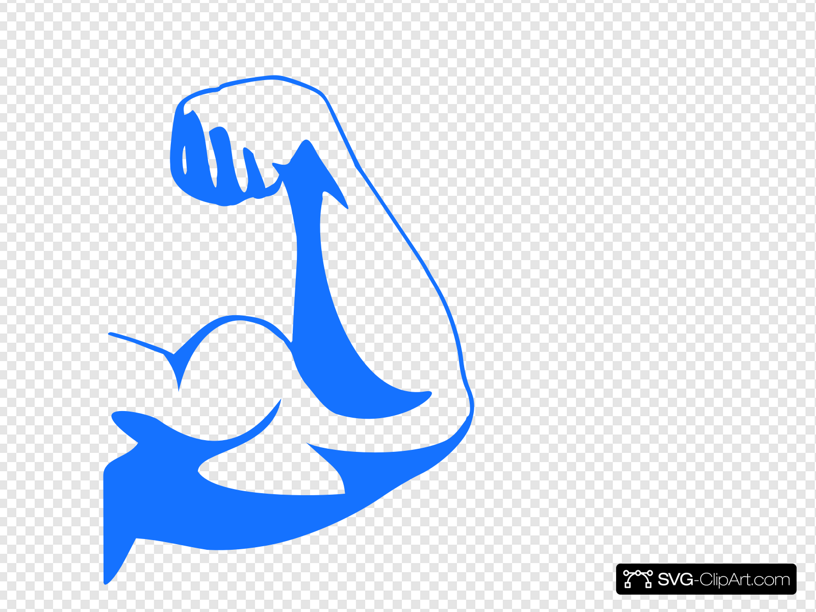 Strong Arm Blue Clip art, Icon and SVG.