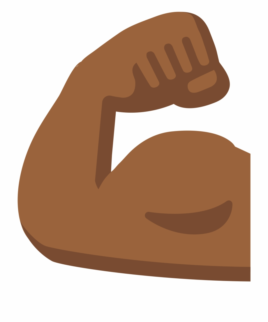 Arm Emoji Biceps Human Skin Color Muscle.