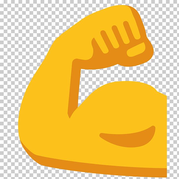 Emoji Biceps Human skin color Muscle, arm, muscle emoji PNG.