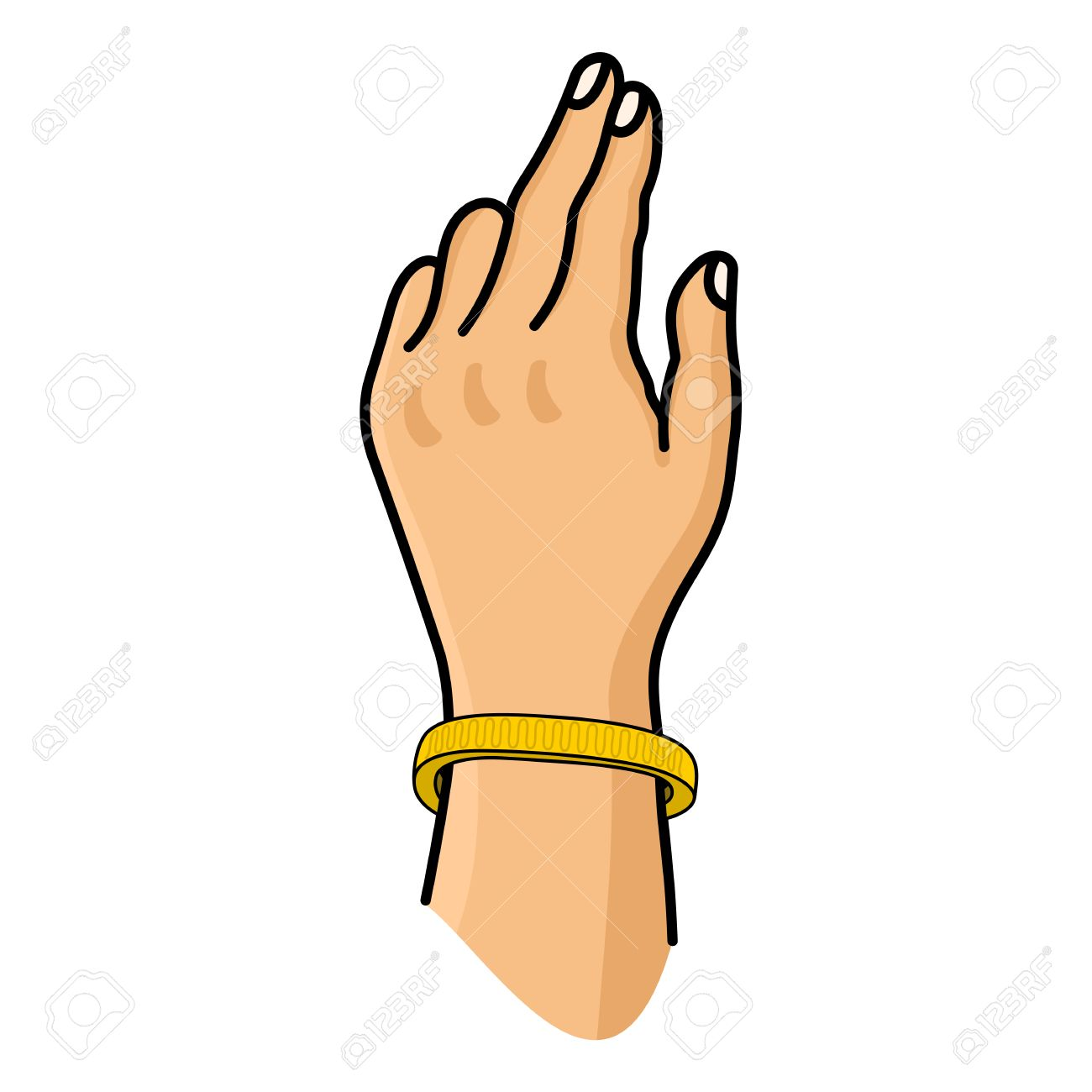 Bracelet On Hand Clipart.