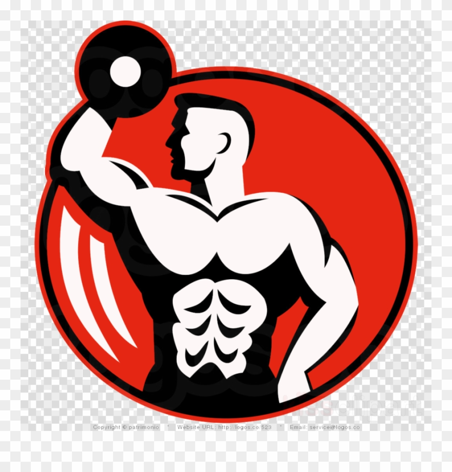 Arm Lifting A Weight Logo Clipart Weight Training Fitness.