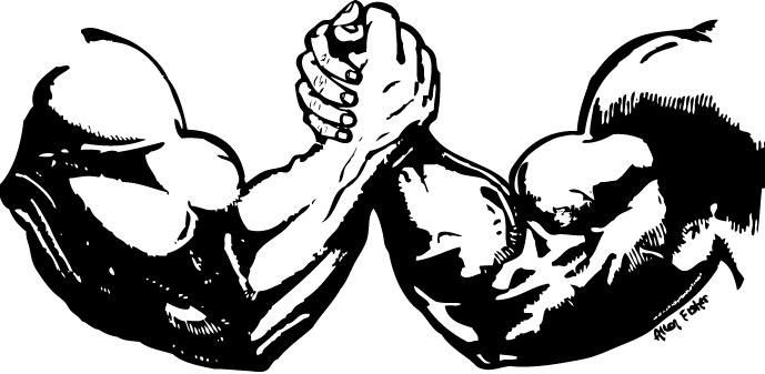 Arm wrestling clip art.