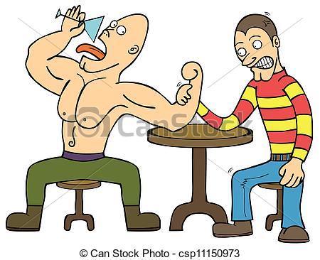 Arm wrestling Stock Illustration Images. 333 Arm wrestling.