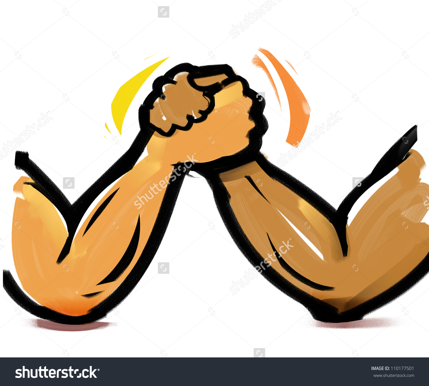 Arm Wrestling Stock Illustration 110177501.