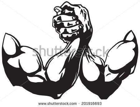Arm Wrestling Vector.