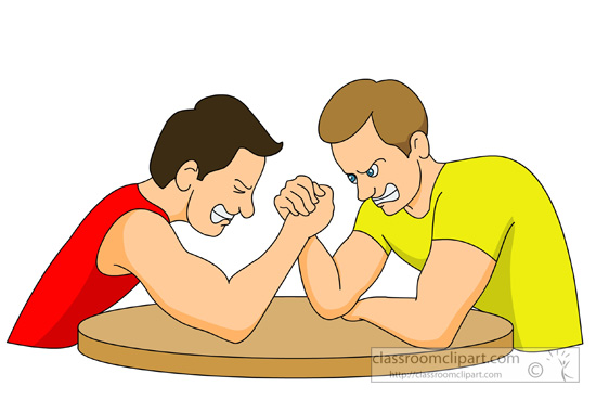 Arm Wrestling Clipart.