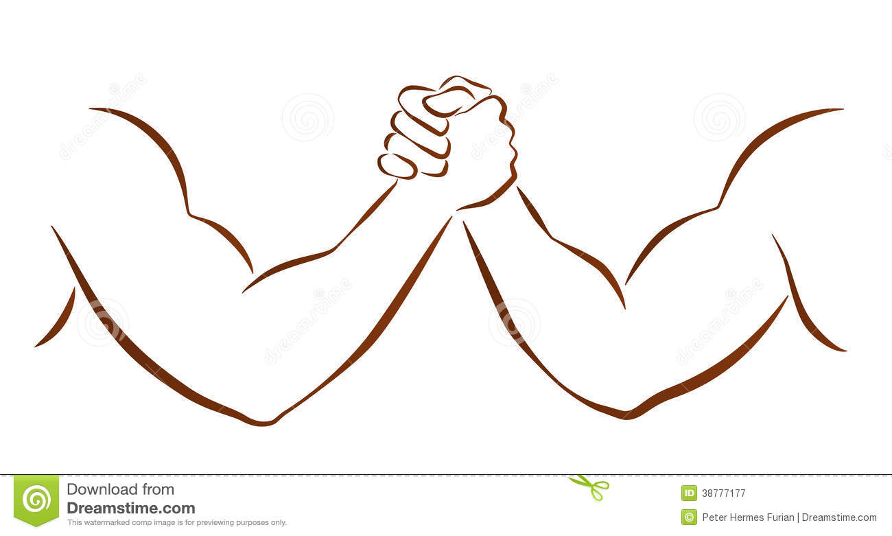 Arm Wrestling Clipart.
