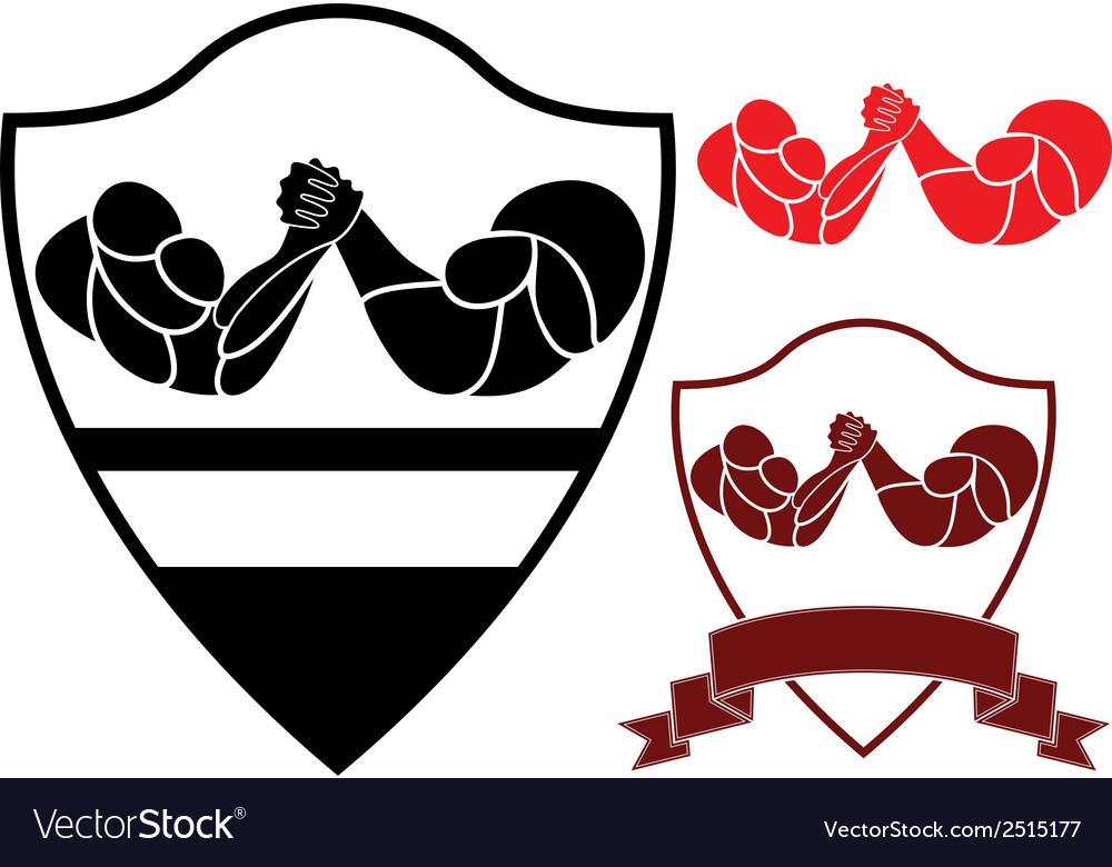 Arm wrestling.