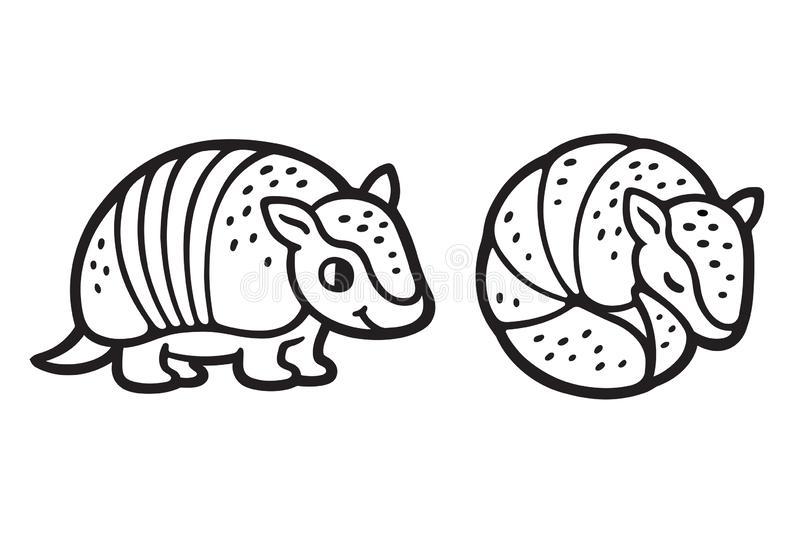 Cute Armadillo Stock Illustrations.