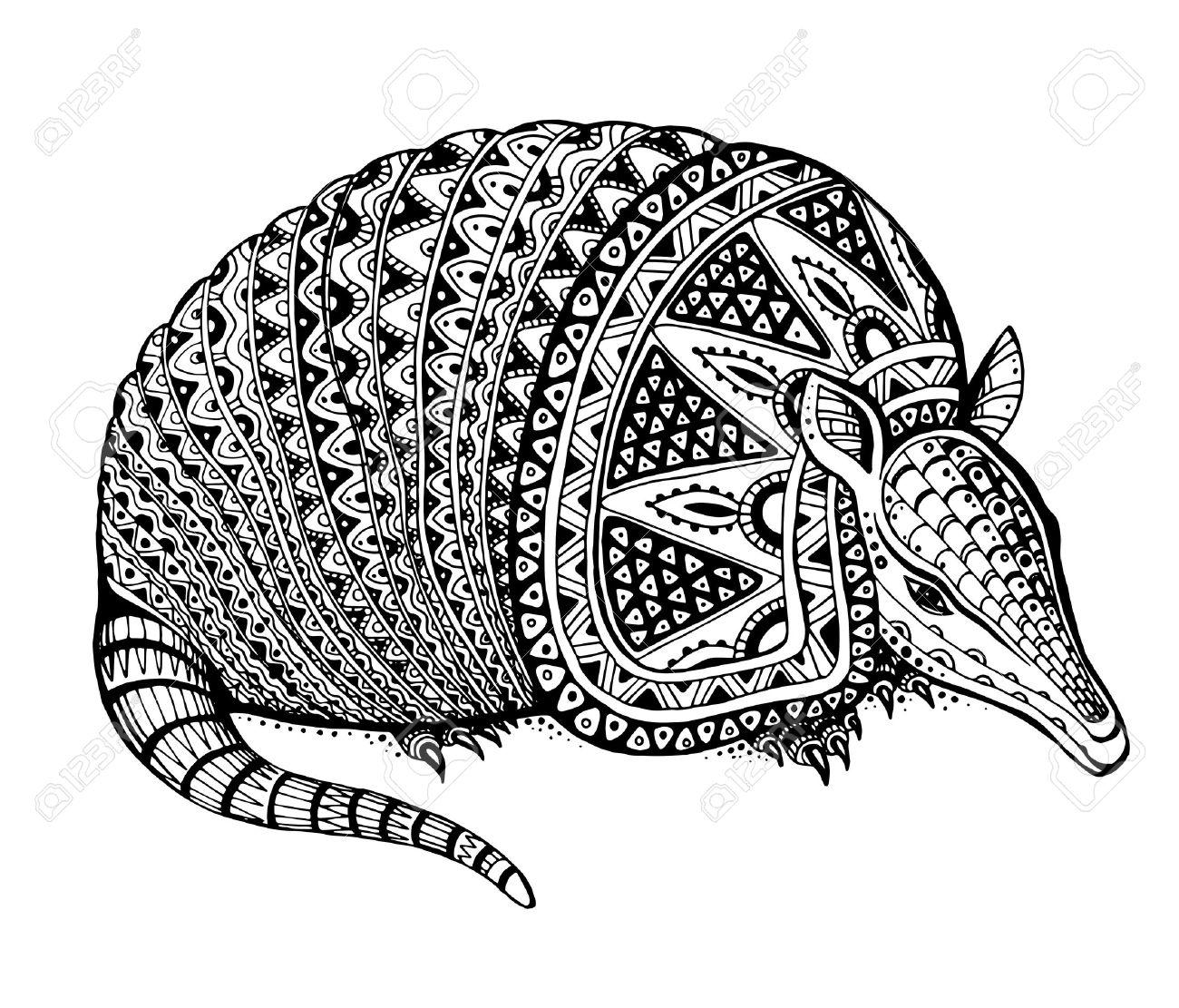 Vector illustration of a totem animal/tattoo.