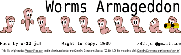 Worms Armageddon, Clip Art.