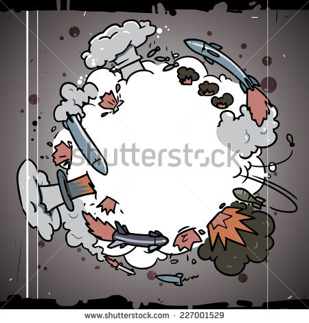 Nuclear War Armageddon Stock Vector Illustration 227001529.