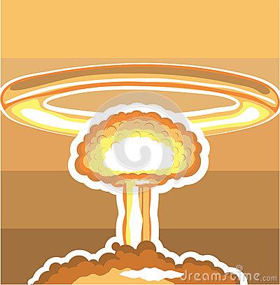 Nuclear Explosion Vector Stock Vector.