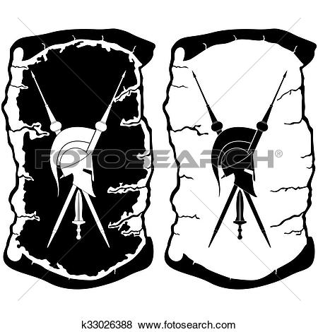 Stock Illustration of Armament of ancient Rome k33026388.