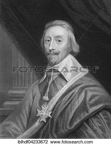 Stock Photo of Armand Jean du Plessis, Cardinal.