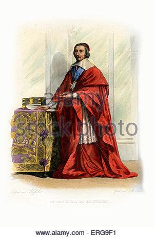 Armand Jean Du Plessis De Richelieu, Cardinal.