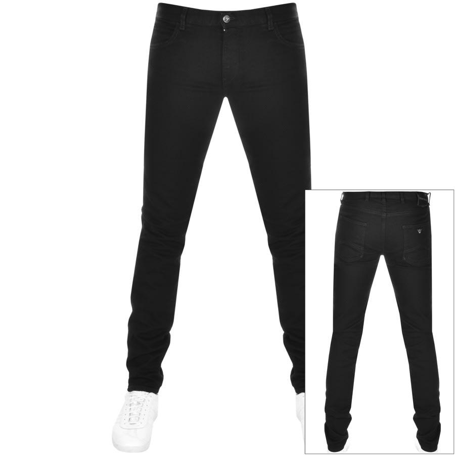 Emporio Armani J10 Extra Slim Fit Jeans Black.
