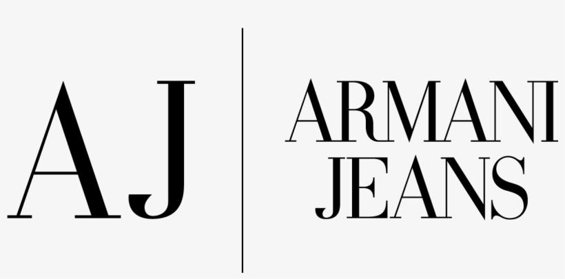 Armani Jeans Logo, Logotype, Wordmark, Textmark.