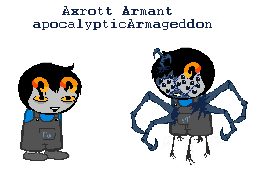Heinoustuck: Axrott Armant by AngelDevilShapeshift on DeviantArt.