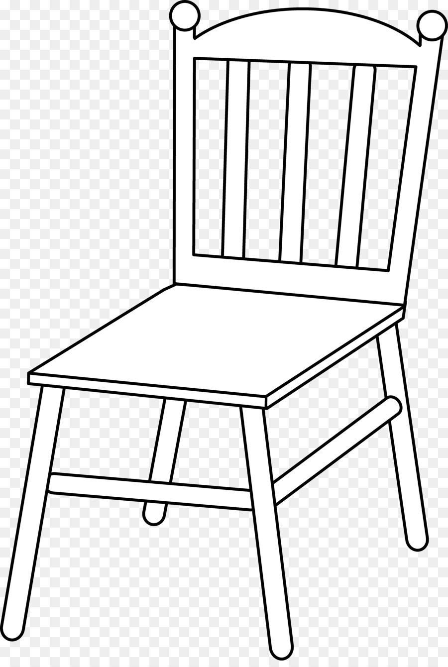 Chair Black And White Clipart.