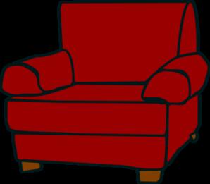 Crimson Red Armchair Clip Art at Clker.com.