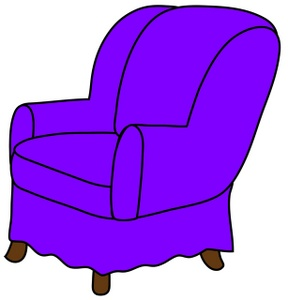 Easy chair clipart.