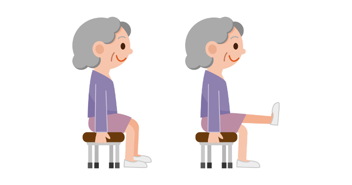 elderly exercise clipart #9