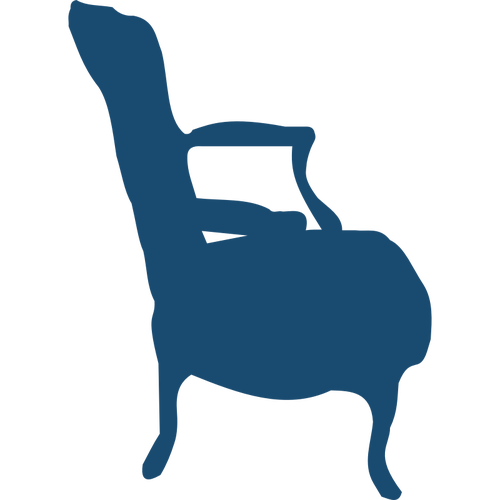 Low armchair silhouette vector image.