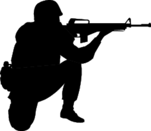 Army soldier clip art.