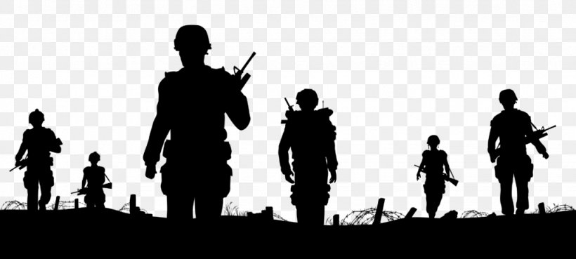 Vector Graphics Soldier Silhouette Clip Art Illustration.