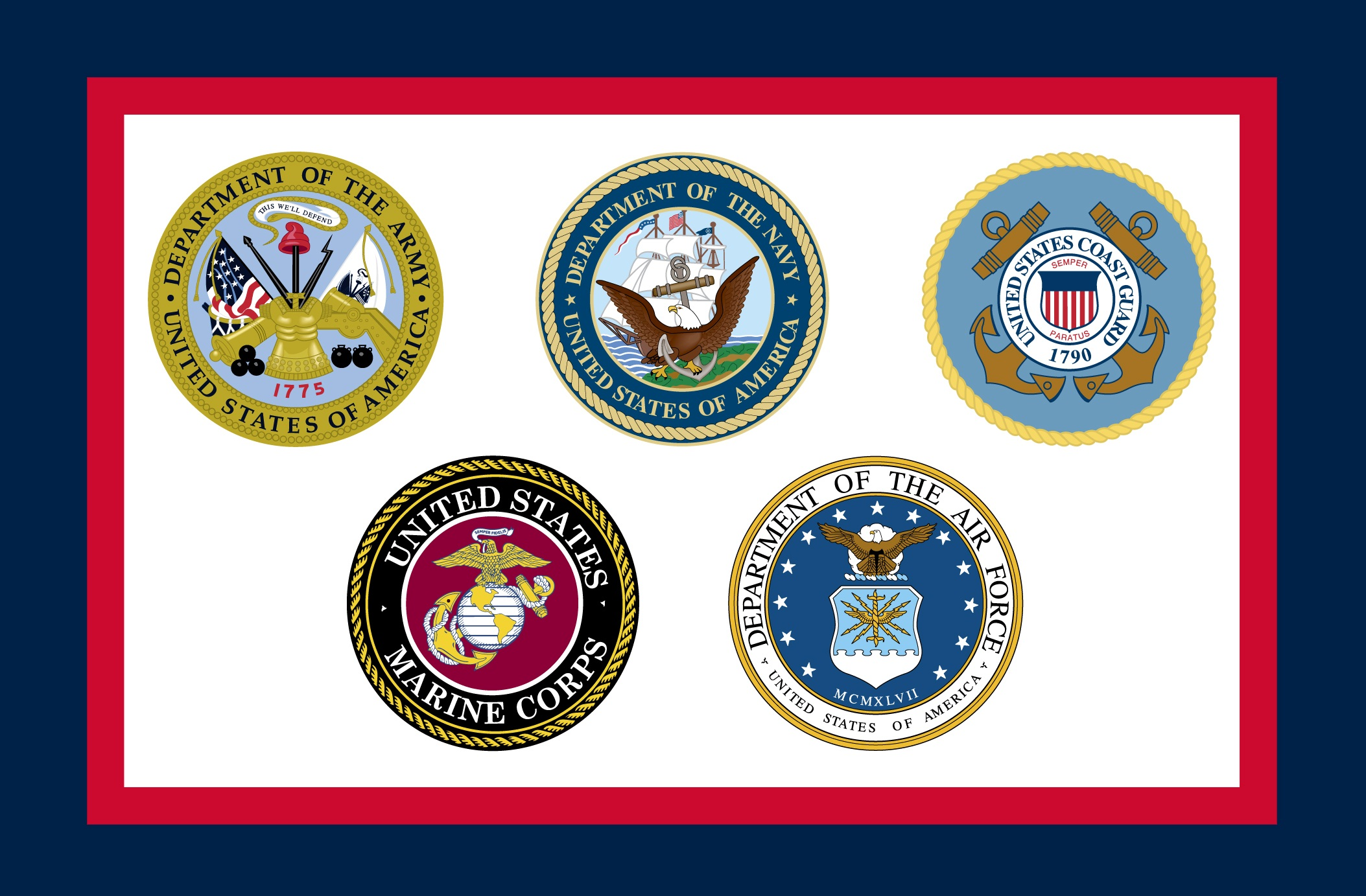 Military Flags Clipart.