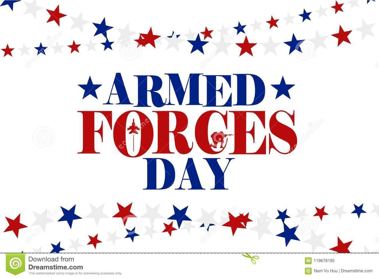 Armed Forces Day Illustration Illustration 119678195.