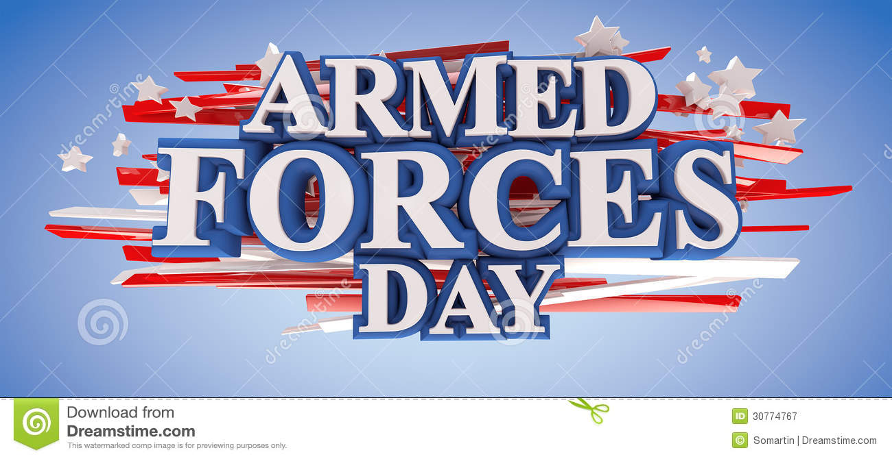 Armed Forces Day stock illustration. Illustration of text.
