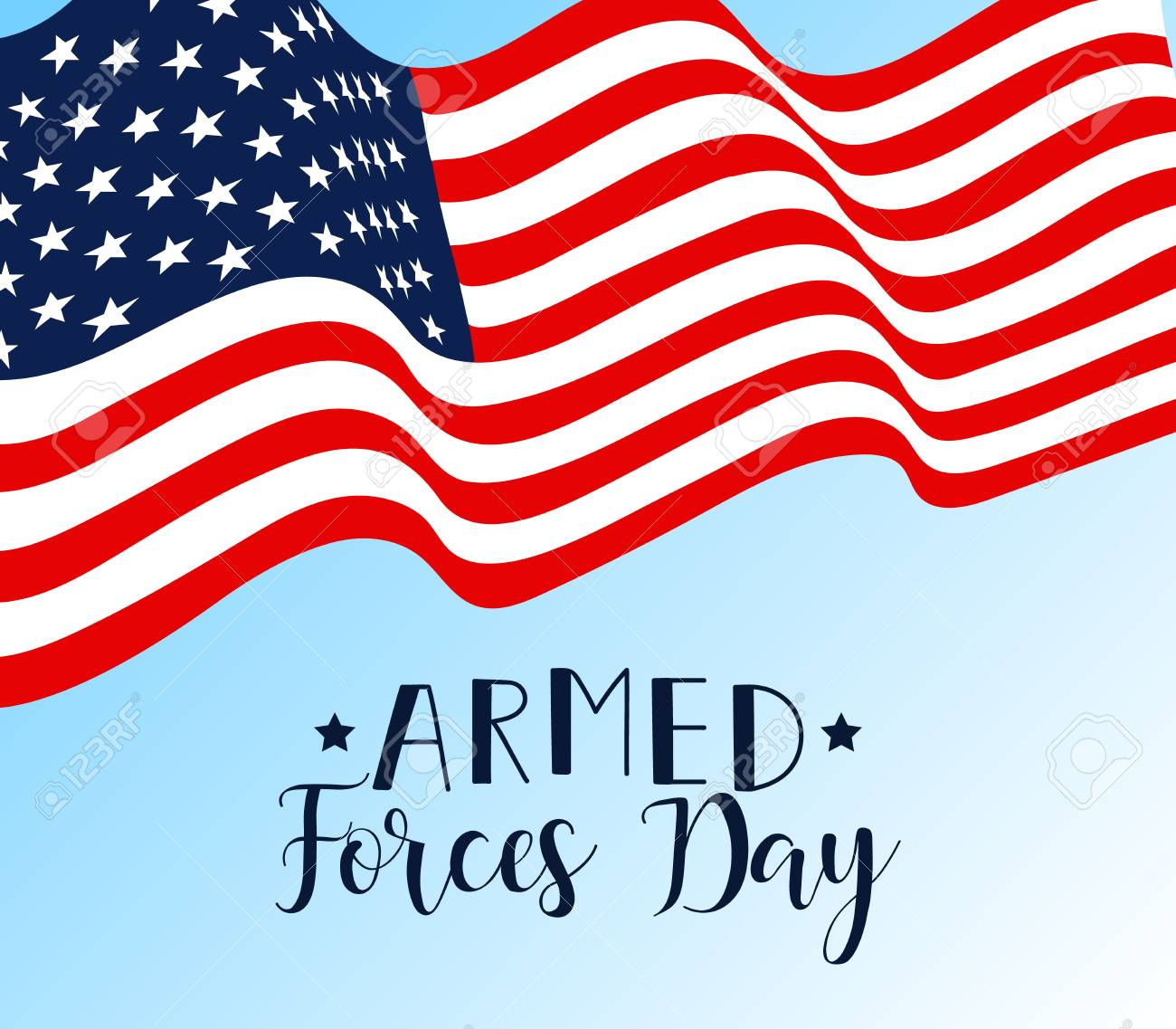 Armed forces day with flag design vector illustration.