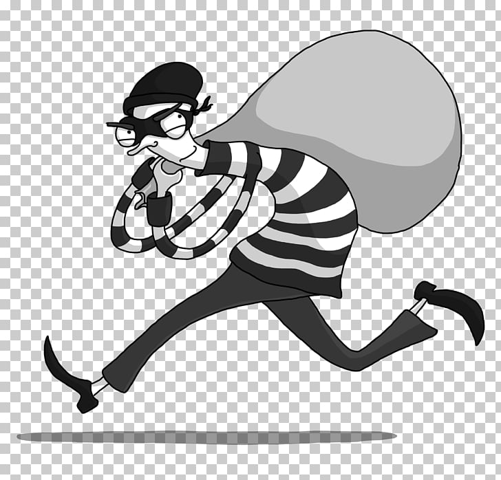 Bank robbery Crime , Bank Robber s, grayscale cartoon.