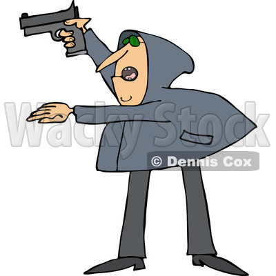 Clipart of an Armed Robber.