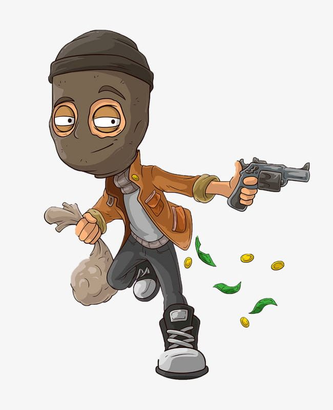 Cartoon Robbers PNG, Clipart, Armed, Armed Robber, Cartoon.
